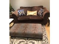 Sofabed and foot stool for sell in a good condition