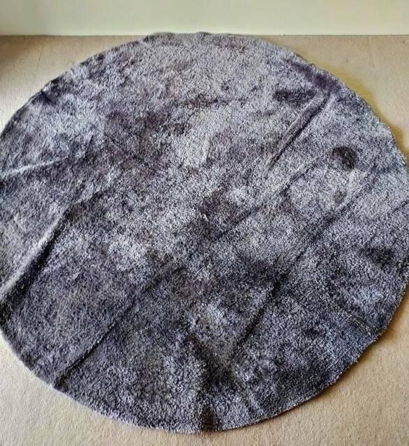 Kmart 180cm Round Grey Luxe Rug Rugs