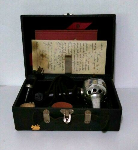 Antique 1920s Hamilton Beach Vibrator Massager Complete W Handwritten Note Works