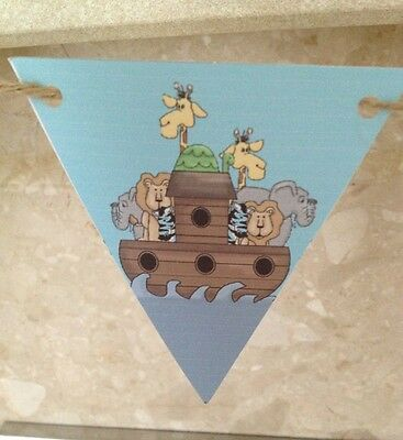 Noahs Ark theme Bunting Baby Shower Party Decoration](Noah's Ark Baby Shower Theme)