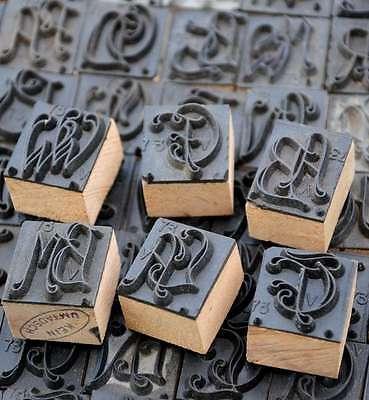 Jugendstil Wäschestempel Monogramm Initial Stempel Stoffstempel Textildruck