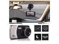 HD 1080P CCTV Dual Lens Car Van Dash Cam DVR Recorder 4″ LCD With Rear Video Camera