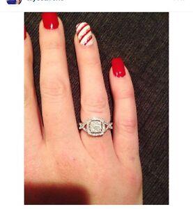 Beautiful diamond ring white gold