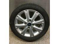 """Ford Fiesta 15"""" alloy wheel spoked with tyre 2007-2013 4x108 zetec titanium st"""