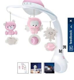 Pink mobile for cot