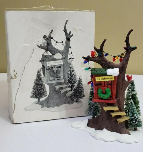 Dept 56 Original Snow Village Kids Tree Club House w/ Box 5168-3 Christmas