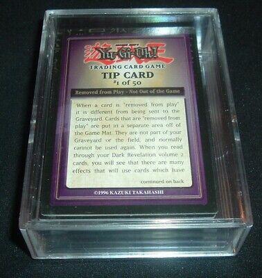 Yugioh 2005 Dark Revelation 2 Complete Tip Cards Set one through fifty ,MINT