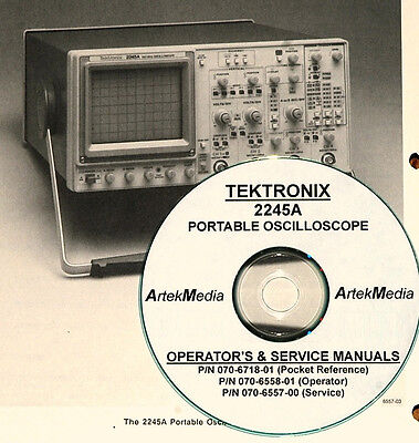 Tektronix 2245a Oscilloscope Manual Set 3 Volumes Operating Service