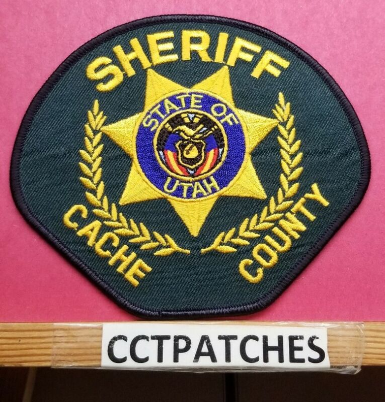 CACHE COUNTY, UTAH SHERIFF GREEN (POLICE) SHOULDER PATCH UT