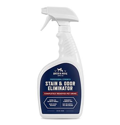 Best Pet Odor Stain Remover for Dog and Cats Urine Eliminator Rocco Roxie Spray