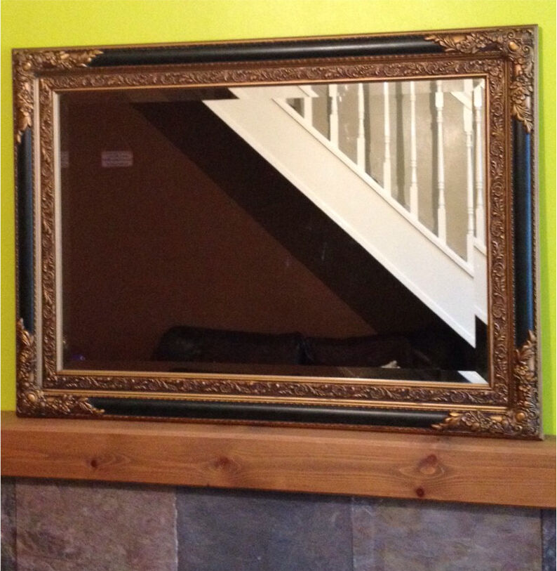 Large Gold And Green Mirror