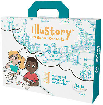 Lulu Jr IlluStory Make Your Own Hardbound Book Kit w/ Professional Printing T549 - Illustory Book Kit