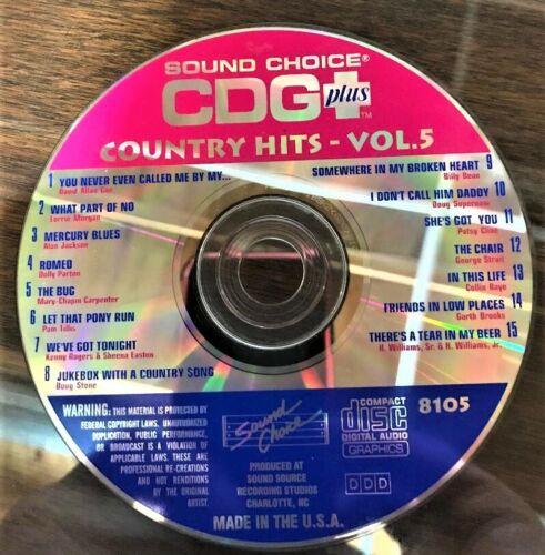 SOUND CHOICE KARAOKE SPOTLIGHT CD+G - 8105 - COUNTRY HITS- VOL 5 - CDG