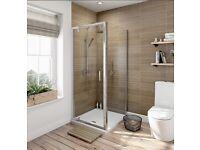 Pivot Door 6mm Shower Enclosure - 900x900mm square Victoria Plum
