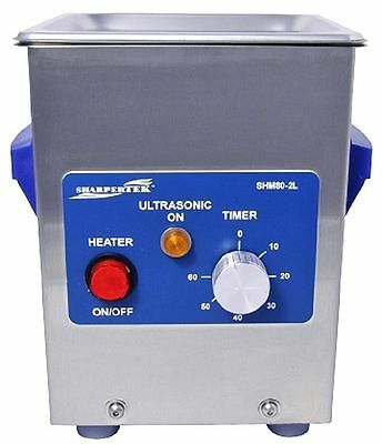 Sharpertek Heated Ultrasonic Jewelry Dental Cleaner Sh80-2l