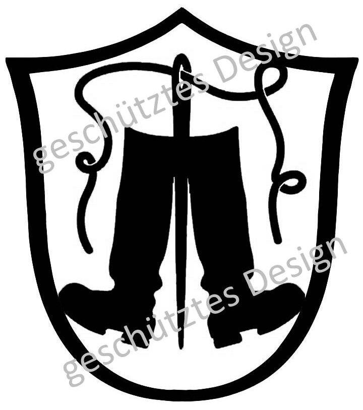 Schuster Schuhmacher Stiefel Zunftzeichen 3mm Stahl H=40-100cm Maibaum Wappen