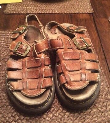 Dr Marten Brown Leather Sandals UK6 US7 Air Wair England