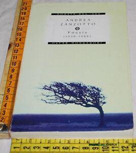 ZANZOTTO-Andrea-POESIE-1938-1986-Oscar-Mondadori-libri-usati
