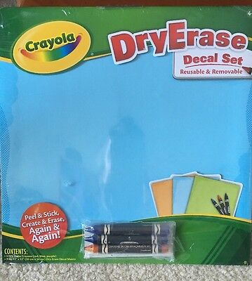Crayola Dry Erase Decal Set For Classroom Home Office Dorm