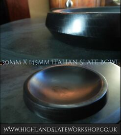 Italian Slate Hand Carved Bowl, 145mm x 30mm