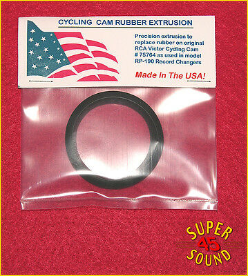 Replacement rubber tire for RCA Victor RP-190 45 RPM Record Player Cycle Cam NEW