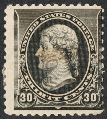US S# 228 *MINT OG H* { 30c BLACK JEFFERSON } 1890 AMERICAN BANKNOTE CV$ 325.00