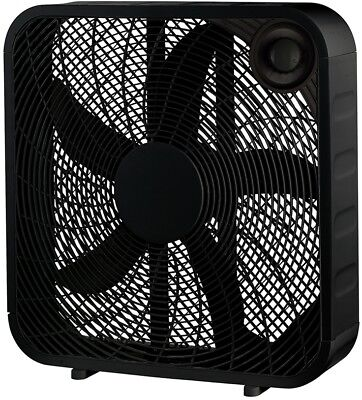 PELONIS Box Fan 20 in. 3 Speed Black Carry Handle Portable I