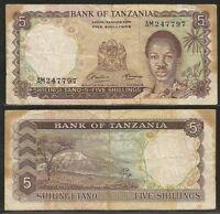 Tanzania - 5 Shillings 1966 Pick 1a -  - ebay.it