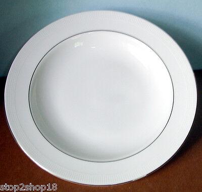Vera Wang Wedgwood Blanc Sur Blanc Rim Soup Bowl 9