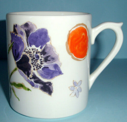 Gien JACINTHE MUG Multi-Color Floral Motif 10 oz. Made in France Boxed New