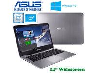Aluminum ASUS EeeBook Laptop - QuadCore - SSD - Windows10 64Bit - Intel HD - Office