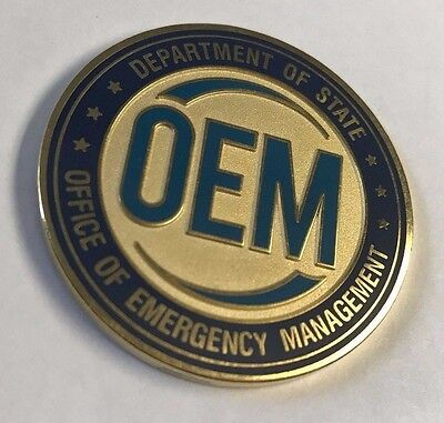 Dos Department Of State Oem Office Of Emergency Management 1 75  Coin