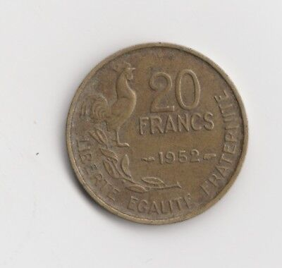 20  Francs Frankreich 1952    Sig. einzeilig  ( 1766)