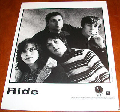 Ride 8x10 B&W Press Photo Sire Records 1994