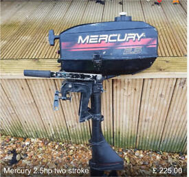 Mercury 2.5hp two stroke outboard engine