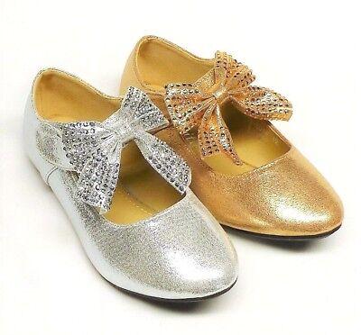 Girls' Fashion Ballet Flat Dress Shoes size 9, 10, 11, 12, 13, 1, 2, 3, 4