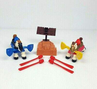Fisher Price Great Adventures Castle Knight Jousting Horses Blue Red Set of 2