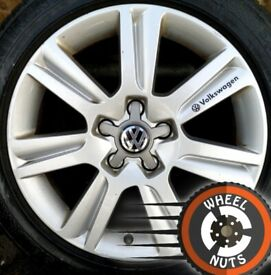 "17"" Genuine Techniks alloys VW Golf Caddy Seat Leon etc excel cond good tyres."