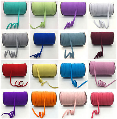 32 Color 5yards 8mm Multirole Satin Elastic Spandex Band Sewing Trim U Pick