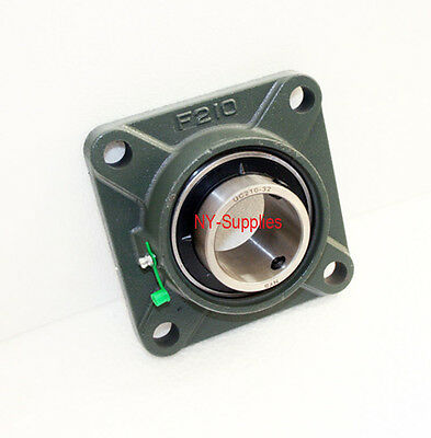 2 Ucf210-32 Quality Square Flange 4 Bolt Block Bearing Qty 1 Pc - Self Align