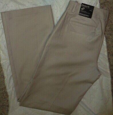 BANANA REPUBLIC Women MARTIN-FIT BEIGE COTTON DRESS PANTS~Size 4P/4 PETITE/P~NEW