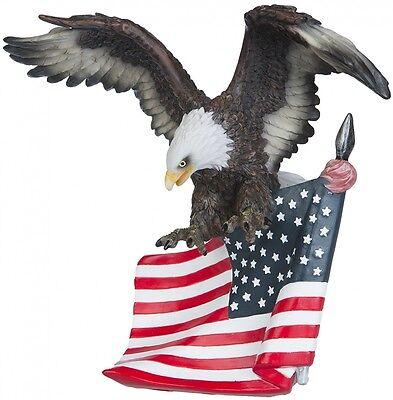 Adler mit Flagge Stars and Stripes Amerika Dekoration Figur USA Deko Figur