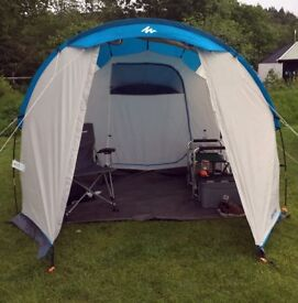 2 x QUECHUA ARPENAZ FAMILY CAMPING TENT | 4 MAN used once! RRP £59.99 selling at £40