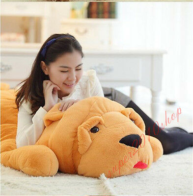 32  Huge Big Dog Stuffed Animal Soft Plush Stuffed Toy Pillow Cushion Gifts 80Cm