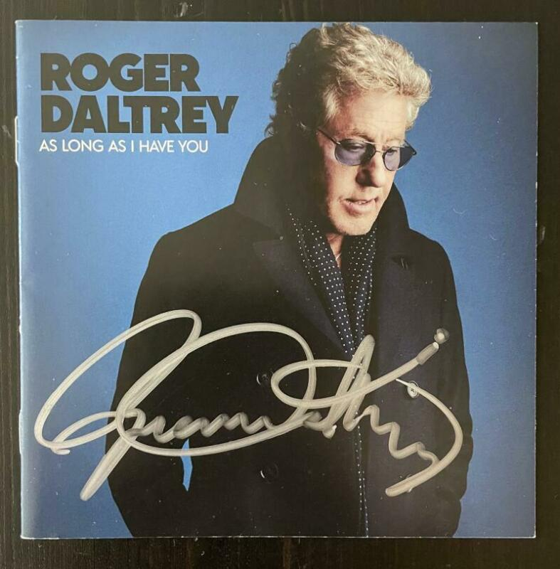 ROGER DALTREY SIGNED AUTOGRAPH AS LONG AS I HAVE YOU CD BOOKLET - THE WHO, RARE