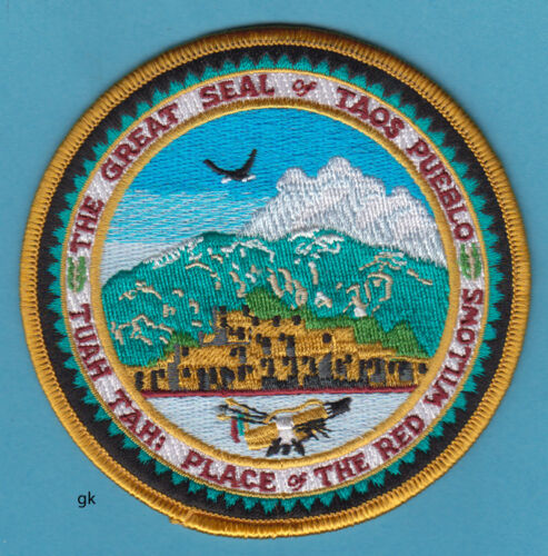 GREAT SEAL TAOS PUEBLO INDIANS TRIBAL PATCH