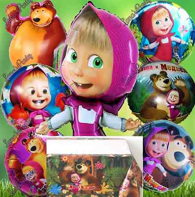 Masha and the Bear Foil Balloons Girl Balloons TABLE cover Birthday ParTY supply - Balloons And Parties
