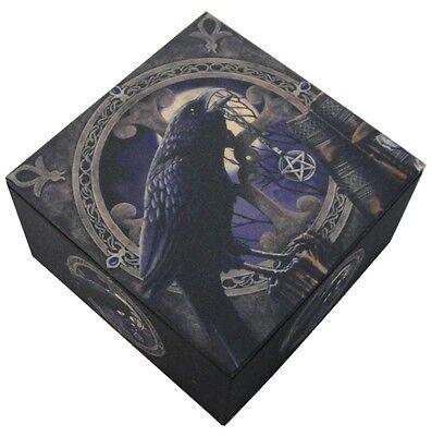Pagan Witchcraft Raven Pentagram Trinket Jewelry Keepsake Mirror Box Lisa (Pentagram Trinket)