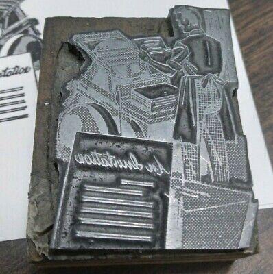 Print Man Letterpress Printer Block Kelsey Printing Press