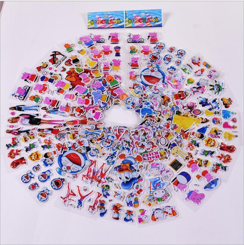 Home Decoration - 3D Children PVC Puffy teaching Stickers lot-kids Reward stickers Birthday Gift